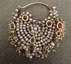 "Antique Indian Pearl Gold Nath nose ring from an article ""Discovering Pearls"""