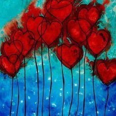 Heart balloon painting