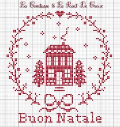 2015 freebie from La Comtesse & Le Point De Croix. Thank you, and Merry Christmas to you also ♥ Cross Stitch House, Xmas Cross Stitch, Cross Stitch Alphabet, Cross Stitching, Cross Stitch Embroidery, Free Cross Stitch Charts, Cross Stitch Freebies, Cross Stitch Designs, Cross Stitch Patterns