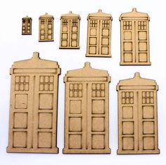 Dr Who Tardis Craft Shapes, Embellishments, 2mm MDF Wood in Crafts, Woodworking | eBay #drwho #tardis