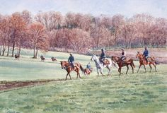Going To The Gallops, Lambourn. Limited Edition Horse Racing Print by Equestrian Artist Katy Sodeau