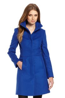 I want this coat SO BAD! It's the most gorgeous blue! HUGO BOSS