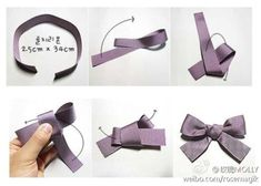 Perfect Bow: Just remenber to put the centre loop facing you all the time! Ribbon go over or under the loop depending on your hand movement!Worked really well. If your ribbon isn't the same on both sides remember to twist the ribbon to the right side Diy Ribbon, Ribbon Bows, Ribbons, Grosgrain Ribbon, Baby Bows, Baby Headbands, Baby Hair Clips, Burlap Bow Tutorial, Diy And Crafts