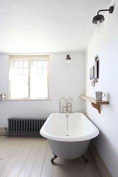 If you have a small bathroom in your home, don't be confuse to change to make it look larger. Not only small bathroom, but also the largest bathrooms have their problems and design flaws. Family Bathroom, Laundry In Bathroom, White Bathroom, Bathroom Interior, Modern Bathroom, Minimal Bathroom, Loft Bathroom, Downstairs Bathroom, Large Open Plan Kitchens