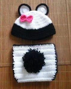 conjunto newborn panda unissex