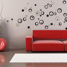 Black Circles foam wallstickers