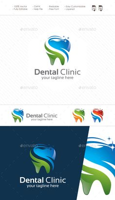 Dental Clinic Logo: Object Logo Design Template created by BiruMudaCreative. Dental Clinic Logo, Dentist Logo, Logo Design Template, Logo Templates, Dental Photos, Teeth Logo, Medical Logo, Font Names, Symbol Logo
