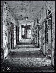 Hallway Of Horrors Dark Hallway, Fear Of The Dark, Black And White Photography, The Darkest, Horror, World, Awesome, Black White Photography, The World