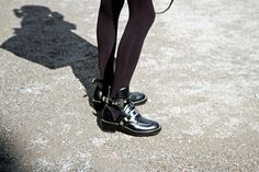 Balenciaga buckle ankle boots | Photographer: Lisa Galesloot | Via: afterDRK