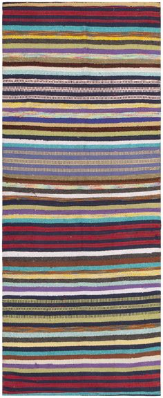 Vintage Swedish Rag Rug 46662 Main Image - By Nazmiyal