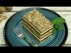 Prajitura Snagov cu nuca si crema de vanilie este o prajitura festiva cu blat cu nuca aromat si crema de vanilie invaluita in 3 tipuri de Romanian Desserts, Macarons, Keto, Sweets, Bread, Vegan, Cookies, Breakfast, Healthy