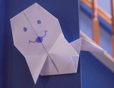 how to make an easy origami ghost for halloween