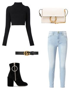 """#BJ"" by victoriabajer on Polyvore featuring moda, Off-White, Frame, Balmain, Chloé i Gucci"