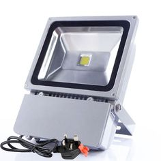 80W Warm White Led Floodlight,Energy Saving Outdoor Waterproof Security Lighting #Unbranded