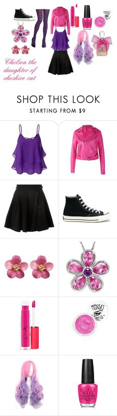 """""""Wonderland Descendants"""" by bethany-24356 on Polyvore featuring Doublju, Boohoo, Kenzo, Converse, MAC Cosmetics, Medusa's Makeup and Juicy Couture"""