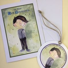 New Communion Cards now in stock Custom Bookmarks, First Holy Communion, Your Message, Your Cards, Thank You Cards, Holi, Messages, Children, Gifts