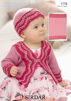baby knits | Sirdar knitting pattern 1778, Sirdar Snuggly Baby Bamboo Dk knit from ...
