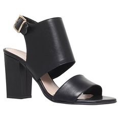 Buy Carvela Krackow Chunky Block Heel Sandals, Black Online at johnlewis.com