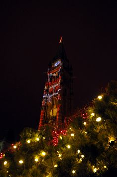 Peace Tower At Christmas Ottawa Parliament, Tower, Christmas Tree, Canada, Peace, Holiday Decor, Teal Christmas Tree, Rook, Computer Case