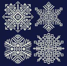 Snowflakes 2005 cross stitch pattern.