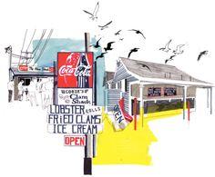 Culture & Travel (US) | Holly Wales | Illustrator & Educator | felt tip marker pen collage handmade colour illustration