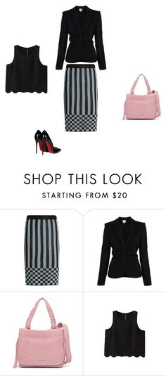 """""""Untitled #7831"""" by explorer-14576312872 ❤ liked on Polyvore featuring House of Holland, Armani Collezioni, Elizabeth and James, WithChic and Christian Louboutin"""