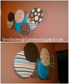 wall art using fabric and styrofoam