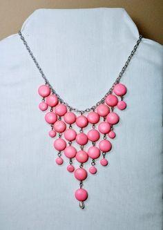 Pink Bib necklace.