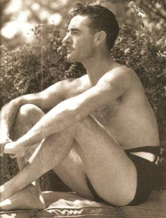 """miss-flapper: """"Sexy candid of John Gilbert poolside, """" Vintage Hollywood, Classic Hollywood, Vintage Beauty, Vintage Men, Jack Gilbert, Bathing Beauties, Silent Film, Hollywood Stars, Candid"""