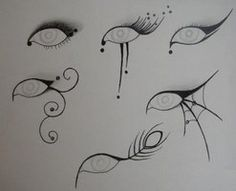Eye Make Up Designs by ~Gothic-Moonlight on deviantART