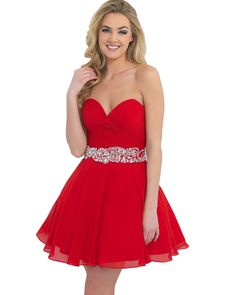 Red-Cocktail-Dress-Sweetheart-White-Blue-Chiffon-Homecoming-Dresses-