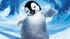 Amazing penguin posed 3D Wallpaper