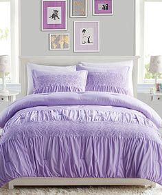 Look what I found on #zulily! Purple Janeth Comforter Set #zulilyfinds