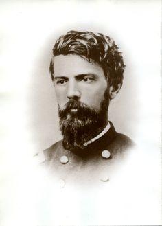 """Portrait of Milton Barnes in uniform, ca. 1863-1865. Photograph (albumen type) 5"""" x 7"""". http://hdl.handle.net/1920/6300"""