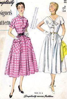 1950s Misses Summer Dress Vintage Sewing by MissBettysAttic, $22.00