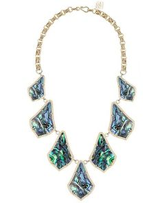 Kensey Statement Necklace in Abalone Shell - Kendra Scott Jewelry. Coming soon!