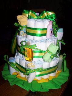 Delightful Baby Girl Shower Ideas | Gorgeous John Deere Diaper Cake