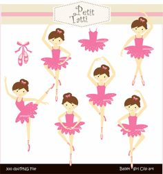 Digital clip art for all use,Ballet girls