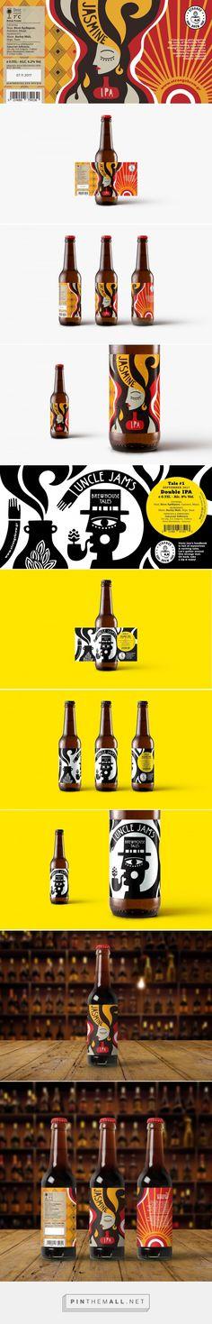 Strange Brew Beer packaging design by polka dot design - http://www.packagingoftheworld.com/2018/01/strange-brew-beer.html