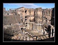 short trip 4 - Bosra, Dara - .Syria-The settlement was first mentioned in the documents of Tutmose III and Akhenaton (14th century BC). Bosra was the first Nabatean city in the 2nd century BC. The Nabatean Kingdom was conquered by Cornelius Palma, a general of Trajan, in 106.