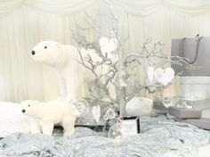 Highly acclaimed Yorkshire based Wedding Planner Pamella designs exclusive weddings for international clients worldwide. Red And Gold Christmas Tree, Woodland Christmas, Rustic Christmas, Xmas Tree, Christmas Ideas, Polar Bear Party, Polar Bears, Halloween Rocks, Bear Decor