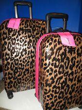Betsey Johnson Cheetah Hardside Suitcase Luggage. I need this!