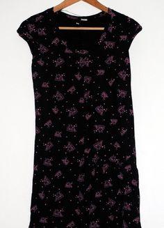 Kup mój przedmiot na #vintedpl http://www.vinted.pl/damska-odziez/krotkie-sukienki/9516682-hm-czarna-sukienka-bawelniana-we-wzor-kasety-rozm-34-xs