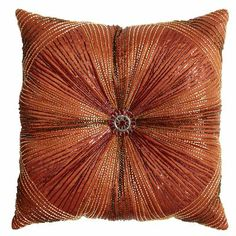 Beaded Sunburst Pillow -- Would also be pretty in the Moroccan room...