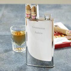Cigar and Flask Combo #groomsmen #gift