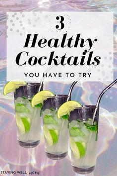 Low Calorie Tequila Drinks, Low Sugar Alcoholic Drinks, Low Carb Cocktails, Healthy Cocktails, Vodka Recipes, Cocktail Recipes, Healthy Holiday Recipes, Mojito, Margarita
