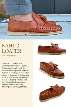acc30031f4ab The KAHLO Tassel Loafer combines elements of a classic English tassel  loafer with the detailed weaving