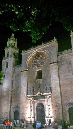 La Catedral de Yucatán, en la ciudad de Mérida, capital del estado, dedicada a San Ildefonso.