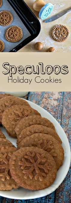 REALLY GOOD COOKIES .Speculoos - Dutch Windmill Cookies - a traditional stamped cinnamon and spice filled cookie from the Netherlands and Belgium - Speculaas - Make holiday cookies from around the world this Christmas Spice Cookies, Biscuit Cookies, No Bake Cookies, Speculoos Cookies, Cinnamon Cookies, Dutch Cookies, Baking Cookies, Speculoos Recipe, Cake Cookies
