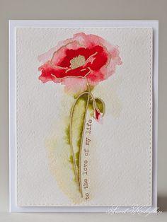 altenew painted poppy - Google Search